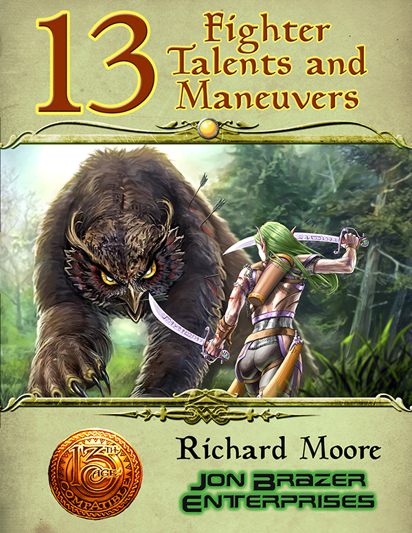 13 Fighter Maneuvers (13th Age Compatible)
