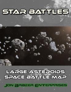 Star Battles: Large Asteroids Space Battle Map (VTT)